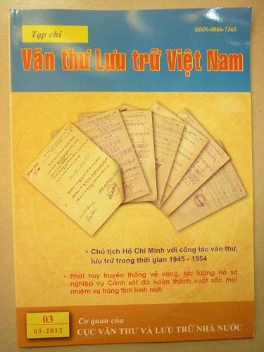 Tạp chí văn thư lưu trữ Việt Nam